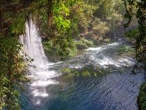 Yukari Düden Şelalesi (Düden Waterfalls) - Antalya - Turkey Stock Photo