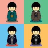 Yukata和和服 免版税库存图片