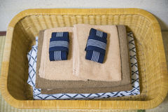 Free Yukata And Towel In Basket Stock Image - 70641391
