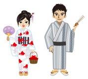 Yukata couple Royalty Free Stock Photos