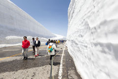 Yuki-no-Ohtani Valley of Snow in the Japanese Alps Stock Photo