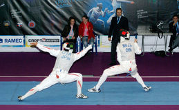 Yuki Ota fencing. World cup 2010. Royalty Free Stock Photography