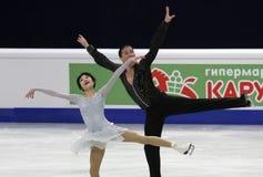 Yuko KAVAGUTI/亚历山大SMIRNOV (RUS) 图库摄影