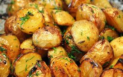 Yukon baby potatoes Stock Photography