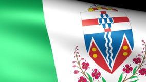 Yukon Flag Waving. Video footage stock footage