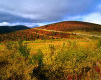 Yukon - Ogilvie Mountains in the fall Stock Photo
