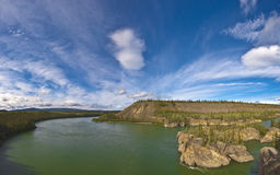 Yukon Panoramic. Panoramic shot of Peel River Yukon Canada Royalty Free Stock Image