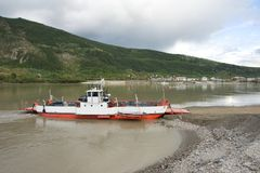 Yukon River Ferry Royalty Free Stock Images