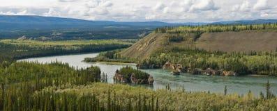 Yukon River Panoramic Royalty Free Stock Images