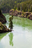 Yukon River surface Miles Canyon Whitehorse Canada Stock Image