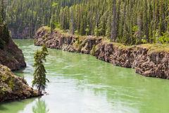 Yukon River water Miles Canyon Whitehorse Canada Royalty Free Stock Photography