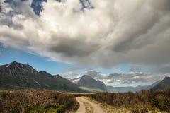 Yukon scenery with rainbow Stock Photos