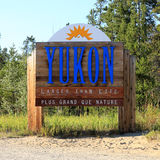 Yukon sign Royalty Free Stock Photos