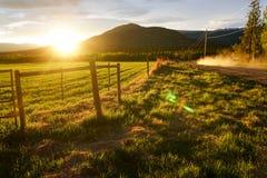 Yukon-Sonnenuntergang Lizenzfreie Stockfotos