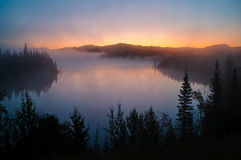 Yukon Sunrise Stock Image