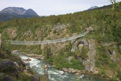 Yukon Suspension Bridge Royalty Free Stock Photo