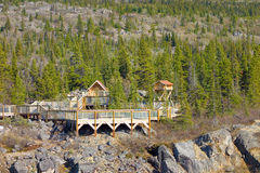The yukon suspension bridge Royalty Free Stock Photography