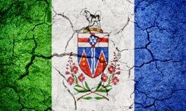 Yukon, terytorium Kanada, flaga Obrazy Stock