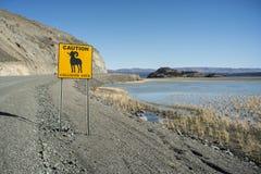 Yukon vägmärke royaltyfria bilder