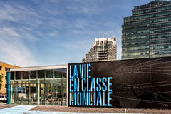 The Yul project. The project Luxury complex of condominums, penthouses and 17 townhouses in downtown Montréal, Quebec, Canada stock photography
