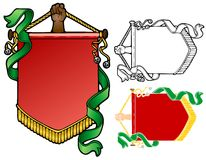 Yule Banner. Dramatic banner held up by a brown hand Stock Image