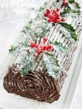 Yule log Royalty Free Stock Images
