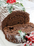 Yule log Royalty Free Stock Images