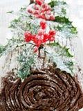 Yule log Royalty Free Stock Photography