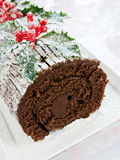 Yule log Stock Photos