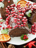 Yule log Stock Images