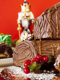 Yule Log Cake Stock Photos