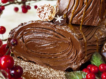Yule Log Cake Stock Images