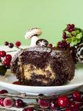 Yule Log Cake Stock Photography