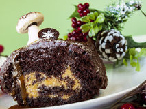 Yule Log Cake image libre de droits
