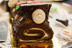 Yule log Stock Photo