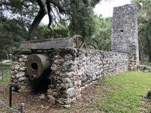 Yulee Cukrowego młynu ruiny zdjęcie royalty free