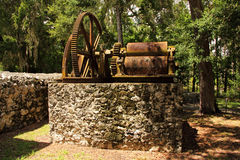 Yulee Sugar Mill Ruins royalty-vrije stock afbeeldingen