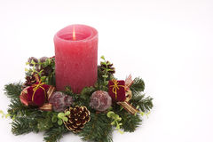 Yuletide Candle Stock Image