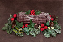 Yuletide Log Stock Image