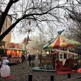 Yuletide & Seasonsal魅力在一个迷人的法国镇 库存照片