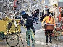 Yuletide & Seasonsal魅力在一个迷人的法国镇 图库摄影