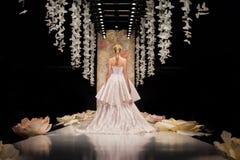YULIA PROKHOROVA wybieg MOSKWA mody tydzień 25 Październik, 2015 Fotografia Stock