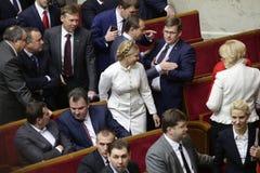 Yulia Tymoshenko nel Parlamento ucraino, il 27 novembre 2014, Kiev, Ucraina Fotografia Stock