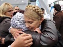 Yulia Tymoshenko op een bezoek aan Chortkiv Stock Afbeelding