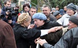 Yulia Tymoshenko op een bezoek aan Chortkiv_4 Royalty-vrije Stock Afbeelding