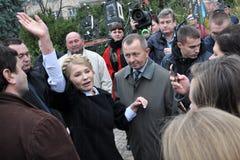 Yulia Tymoshenko op een bezoek aan Chortkiv_5 Stock Foto