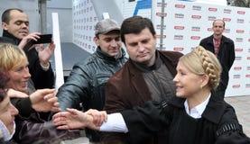 Yulia Tymoshenko op een bezoek aan Chortkiv_6 Stock Foto