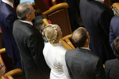 Yulia Tymoshenko in Ukrainian Parliament, 27 November 2014, Kiev, Ukraine. Yulia Tymoshenko before taking  oath as newly elected people's deputies of Ukraine Stock Photos