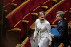Yulia Tymoshenko in Ukrainian Parliament, 27 November 2014, Kiev, Ukraine. Yulia Tymoshenko before taking  oath as newly elected people's deputies of Ukraine Stock Image