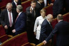 Yulia Tymoshenko in Ukrainian Parliament, 27 November 2014, Kiev, Ukraine Stock Photography